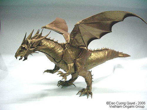 This origami post is all about the ancient dragons of Asia Origami Divine Dragon