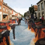 Amazing 3D pavement art.