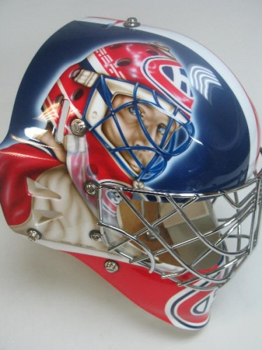 Montreal Canadians Habs hockey goalie mask
