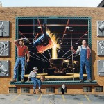 Steel Mill Wall Mural