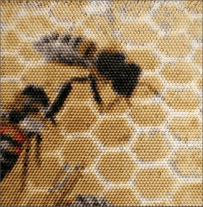 The Amazing Crayon Art of Christian Faur - crayon bees