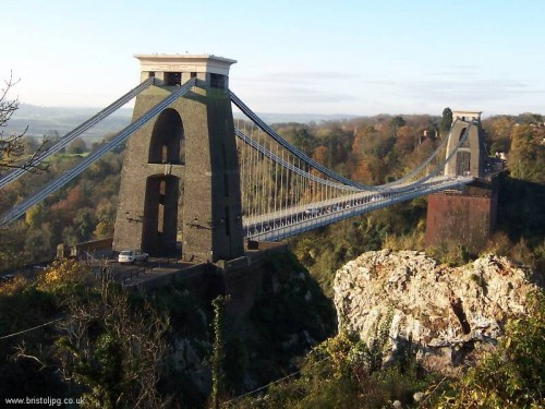 Clifton suspension bridge - Bristol - completed in 1864
