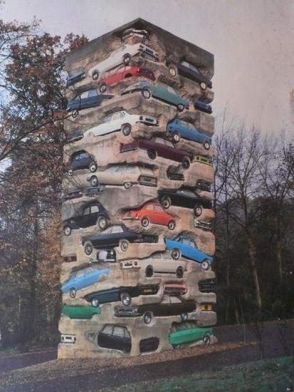 Cool Urban Art A Stack O Cars Pix O 39 Plenty