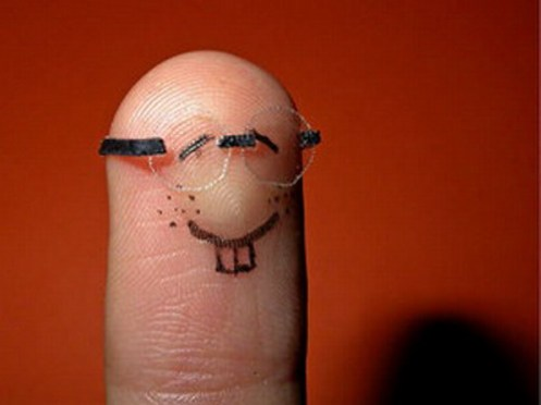 Fingers with Personality: Cute Little Nerdy Finger