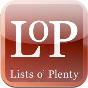 LOP - Lists o' Plenty iPhone / iPod Touch App
