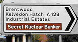 Funny road signs: Secret Bunker this way