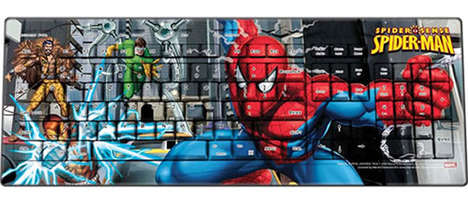 Superhero computer keyboards: Spiderman keyboard