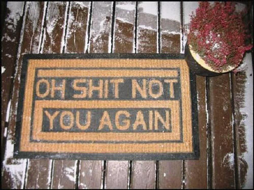 This is not exactly a welcome mat