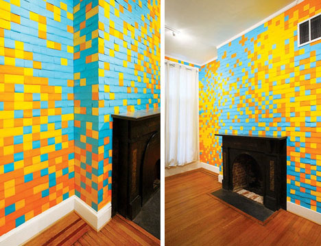 Post It Note Art: Interior design