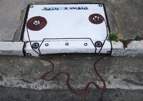 Broken cassette tape sewer