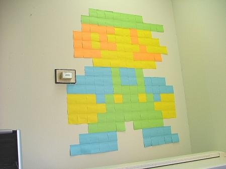 Post It Note Art: post it Mario