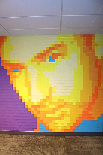 post it note art: a portrait
