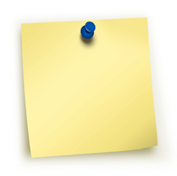 post it note with a pin