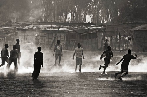 African football - playing in the towns
