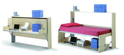 Fold up book case bed frame