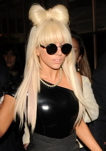 Lady Gaga big hair bow