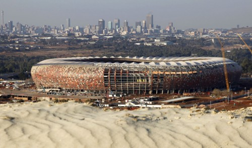 Soccer world cup stadium in South Africa under renovation