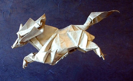 origami jumping animal