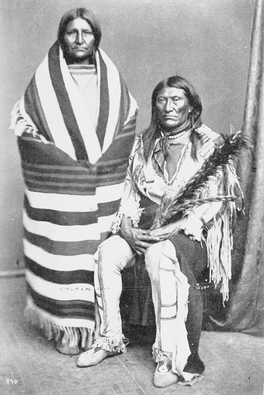 Black Foot and wife - Crow - 1873