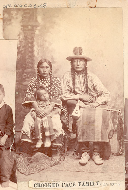 Crooked Face, wife and son - Crow - no date