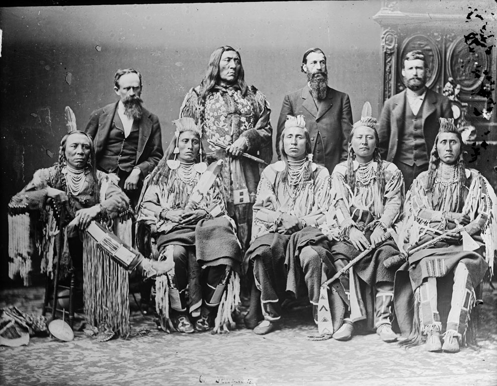Group of Crow men - 1880