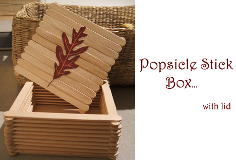Little popsicle stick craft box