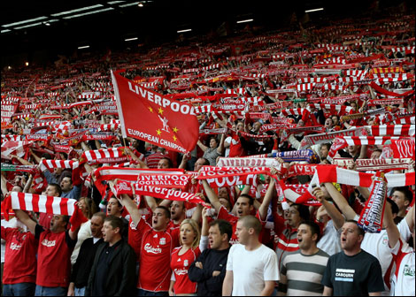 Liverpool football club fans