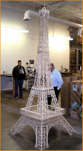 Popsicle stick Eiffel Tower