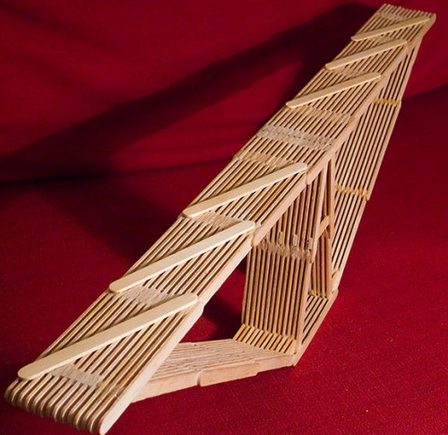 Popsicle stick bridge cool design