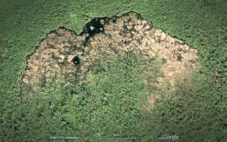 Beaver dam - world's biggest Beaver dam as seen from space