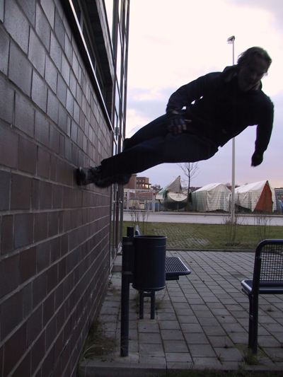 parkour free running wall