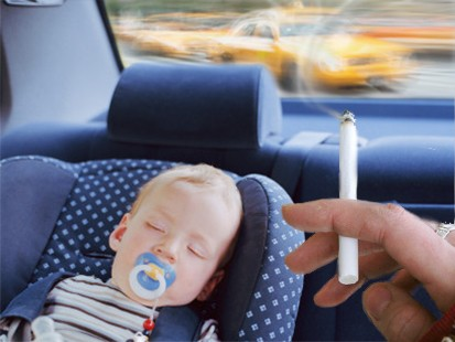 Second hand smoke in cars hurts kids
