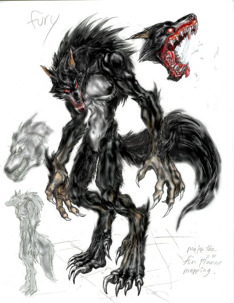Drawing a Werewolf