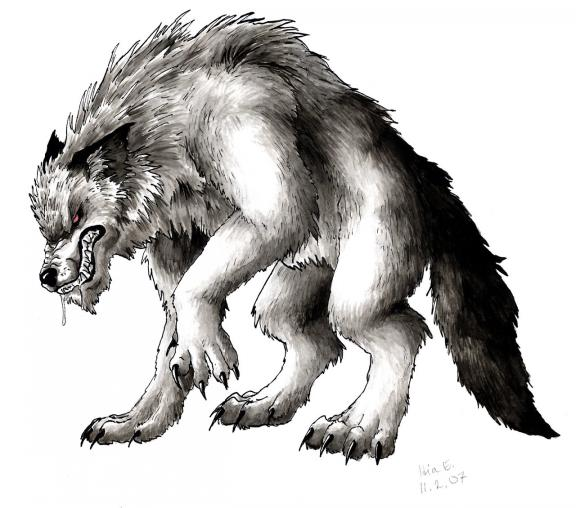 Dog shaped Werewolf