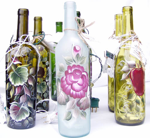 floral design wine_bottles