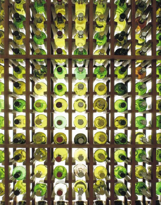 wine-bottles-in the rack