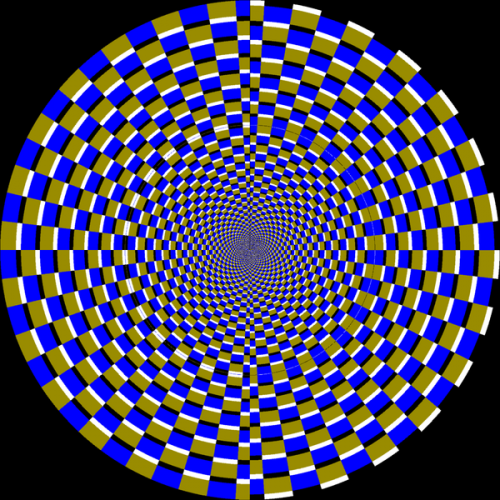Visual illusions - floating circle