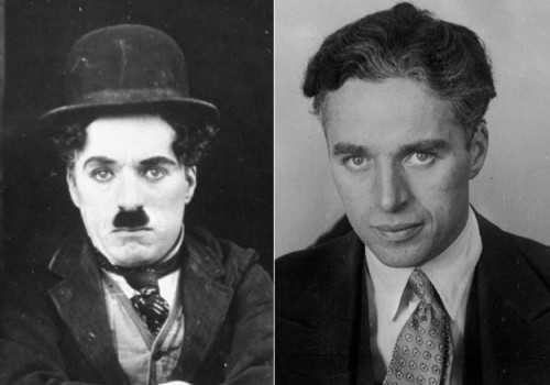 Charlie Chaplin - mustache before and after