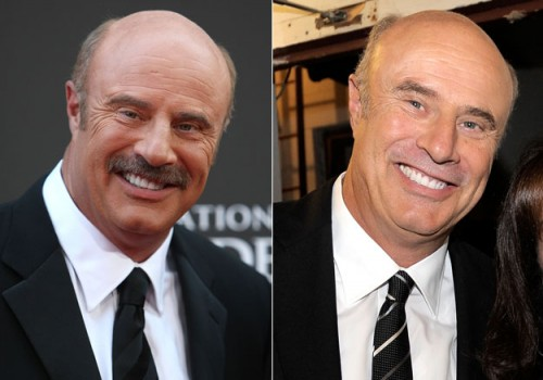 Dr Phil mustache - before and after