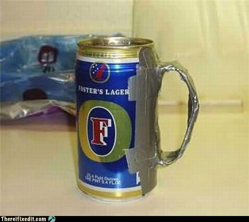 Duct tape beer can
