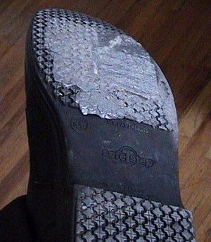 Duct tape shoe repair