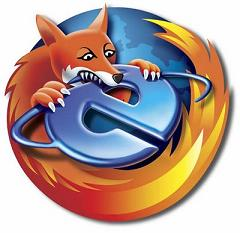 IE vs Firefox mascots
