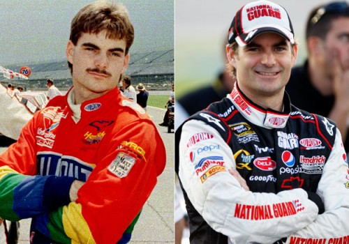 Jeff Gordon - mustache before and after