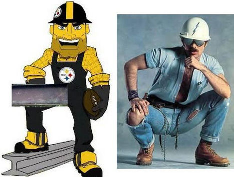 Steelers mascot McSteely