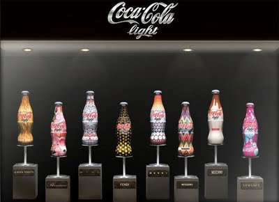 designer coke - window display