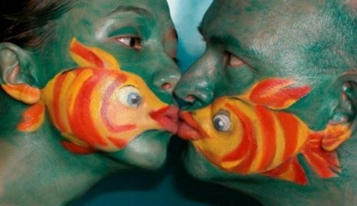 funny fish face painting 1