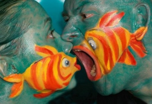 funny fish face painting 4