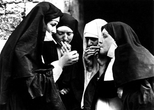 The smoking nun - and friends