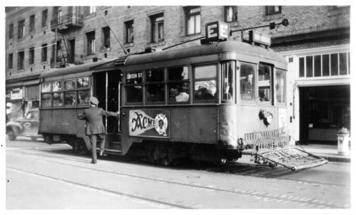 old trolley street car in san francisco