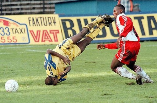 Amazing football soccer face plant headstand